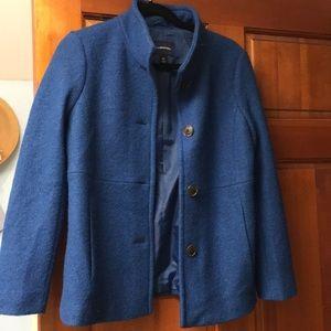 Lands Ends Ladies 4P NWOT Blue Wool Coat